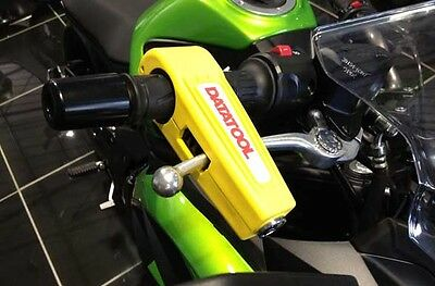 Datatool Croc Lock Yellow Motorcycle Motorbike Brake Lever Security Lock
