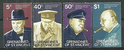 GRENADINES OF St. VINCENT A used set of (4) stamps 1974