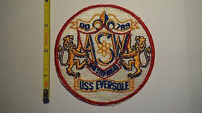 Extremely Rare 1950's USS Eversole (DD-789) Destroyer Ship Patch.  Original