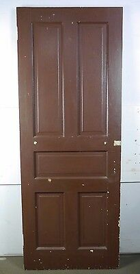 "Antique Vintage 5-Panel Interior Door 77-1/2"" X 29-3/4"" Early 1900's (B5)"