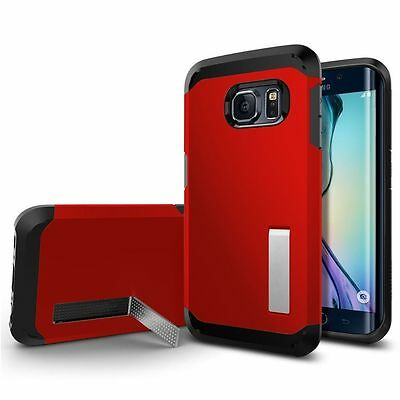 Hard Back Ultra Slim Hybrid Case Cover For Samsung Galaxy S6 Edge Red 05