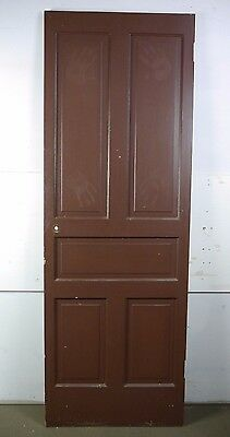 "Antique Vintage 5-Panel Interior Door 79-1/4"" X 27-3/4"" X 1-1/8"" (C5)"