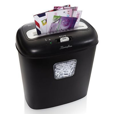 NEW Swingline Paper Shredder 12 Sheets Super Cross-Cut Junk Mail BLACK