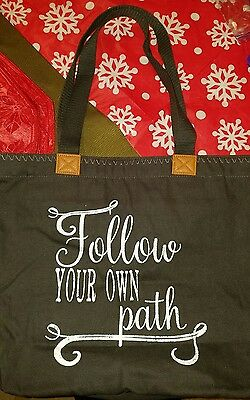 "Thirty One Wander Tote Bag ""Follow Your Own Path"" NEW"