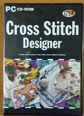 Cross Stitch Designer Pc Cd Rom New Sealed Free Postage