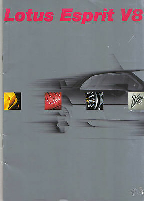 Lotus Esprit V8 original luxury booklet/brochure published by Heidelberg in 2002