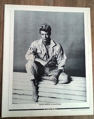 DAVID BOWIE 'bare footed'  PHOTO/clipping 12x10 inches
