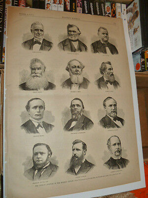 Twelve Apostles Mormon Church Brigham Young October 6 1877 Harper's Weekly Utah