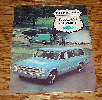 1968 Chevrolet Truck Suburban & Panel Foldout Sales Brochure 68 Chevy