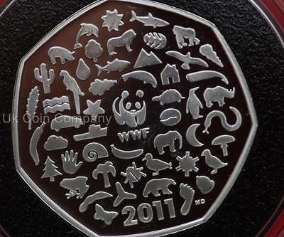 2011 Silver Proof 50p Fifty Pence Coin WWF 50th Anniversary Royal Mint