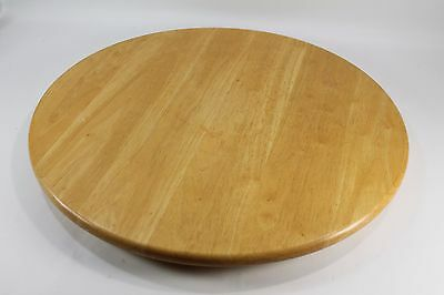 """22"""" Maple Wood Lazy Susan - Gently Used, Clean 1 1/2"""" H"""