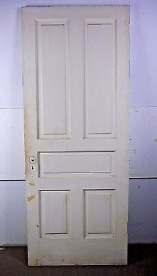 "Antique Vintage 5-Panel Interior Door 79-1/2"" X 31-7/8"" Early 1900's (I5)"