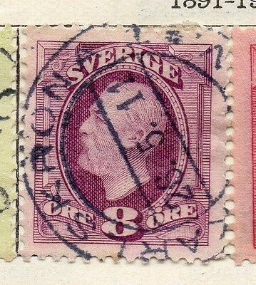 Sweden 1891-1903 Early Issue Fine Used 8ore. 123273
