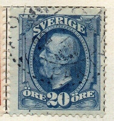 Sweden 1891-1903 Early Issue Fine Used 20ore. 123276