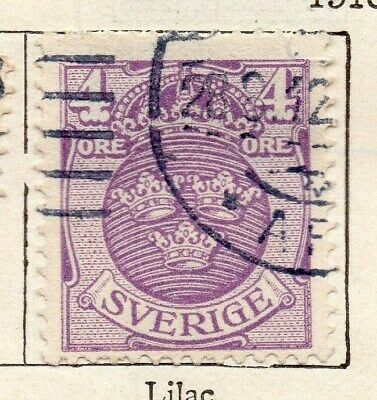 Sweden 1910-11 Early Issue Fine Used 4ore. 123289