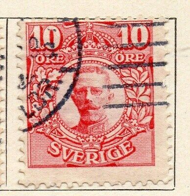 Sweden 1910-11 Early Issue Fine Used 10ore. 123300