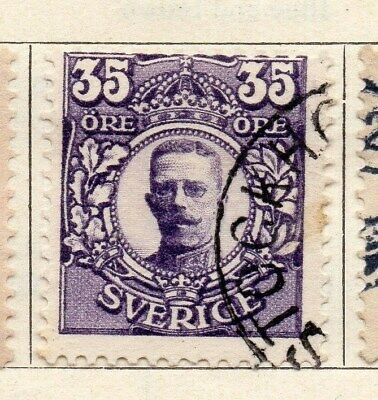 Sweden 1910-11 Early Issue Fine Used 35ore. 123305