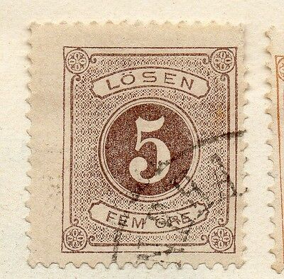 Sweden 1872 Early Issue Fine Used 5ore. Postage Due 123316