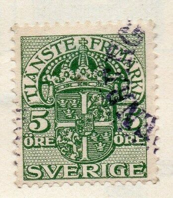 Sweden 1910 Early Issue Fine Used 5ore. Officials 123323