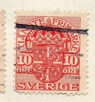 Sweden 1910 Early Issue Fine Used 10ore. Officials 123325