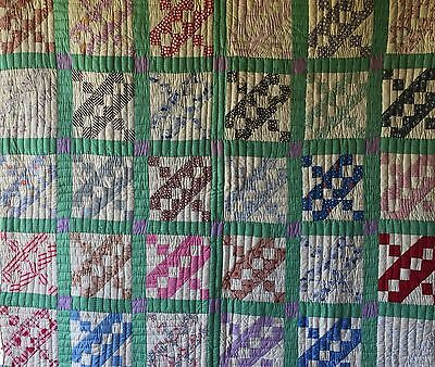 Antique Vintage Quilt Pretty 1930's 40's Fabrics