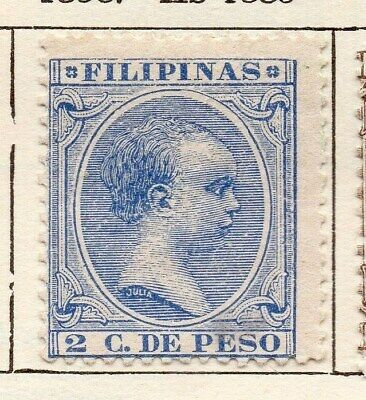 Philippine Islands 1896 Early Issue Fine Mint Hinged 2c. 123397