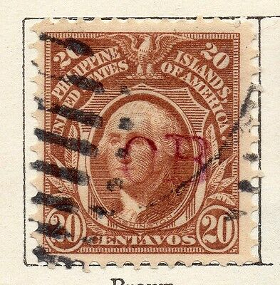 Philippine Islands 1908 Early Issue Fine Used 20c. 123422
