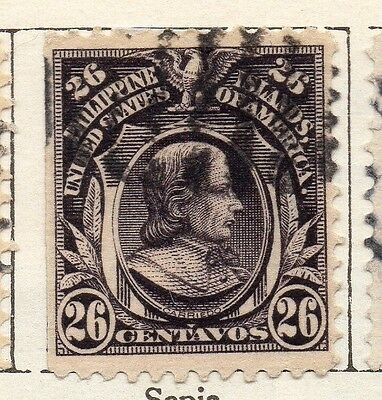 Philippine Islands 1908 Early Issue Fine Used 26c. 123423