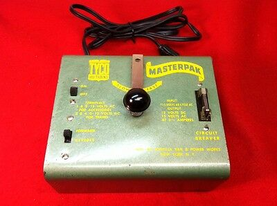 Vintage TYCO HO SCALE MASTERPAK Power Supply & Speed Control Nice & Clean!