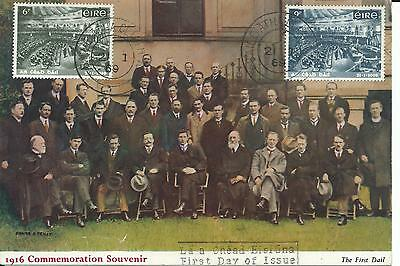 1969 Ireland First Dail Parliament Centenary 1919 FDC 1916 Commemoration Card
