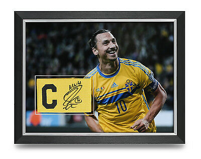 Zlatan Ibrahimovic Signed Armband Photo Framed 16x12 Sweden Autograph COA
