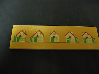 Collectible Wood 5 Houses Made In Holland Puzzle