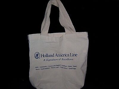NEW Holland America Cruise Line Canvas Tote Bag