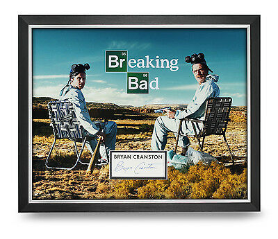 Bryan Cranston Signed Photo Large Framed 20x16 Breaking Bad Autograph Display