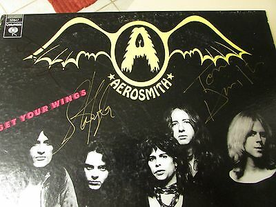 Original RaRe AUTOGRAPHED AEROSMITH 1974 Get Your Wings LP