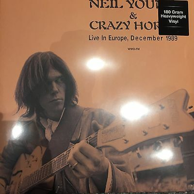 NEIL YOUNG & CRAZY HORSE ' LIVE IN EUROPE DEC. 1989' 180gm Vinyl LP NEW SEALED