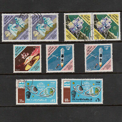 Qatar Selection Of Stamps Including Space Thematics In Pairs