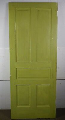 "Antique Vintage 5-Panel Interior Door 79-3/8"" X 31-7/8"" Early 1900's (L5)"