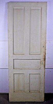 "Antique Vintage 5-Panel Interior Door 79"" X 29-1/2"" Early 1900's (M5)"
