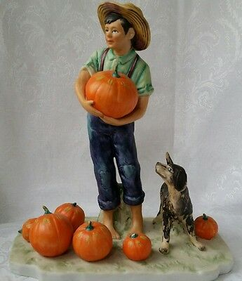 Norman Rockwell Four Seasons First Edition Gorham Porcelain FALL - PILGRIMAGE