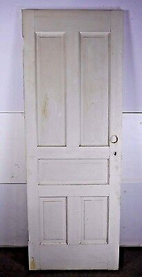 "Antique Vintage 5-Panel Interior Door 80"" X 29-1/4"" Early 1900's (N5)"