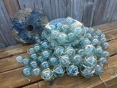 "Vintage Japanese Round Glass Fishing Floats  2"",  Lot 100"