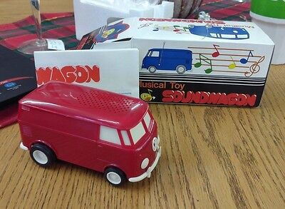 Vintage Tamco Soundwagon Old New Stock Mint In Box Red
