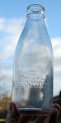 Lovely od 1950's A.P.D.dairy of Bournemouth : milk bottle : dairy