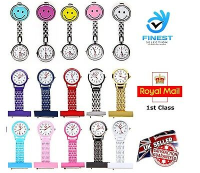 New Nurse watch Stainless Steel /Smiley Face Quartz Fob Better Quality