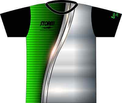 Storm Green & Metal Dye-Sublimated Bowling Jersey