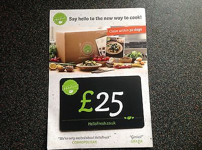 Voucher For £25 Off Hello Fresh Foods