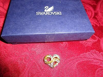 Swarovski Pink & Crystal Hope Heart Breast Cancer Awareness Pin Broach