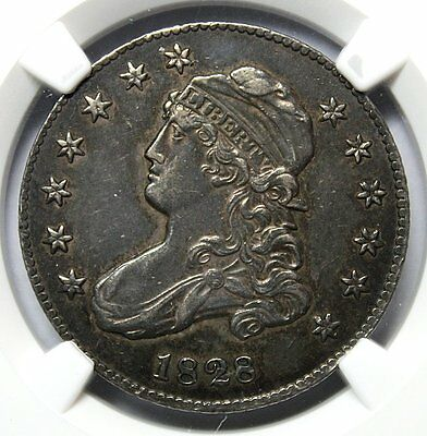 1828 Large Size Capped Bust Quarter * NGC AU53 * Gorgeous Type Coin