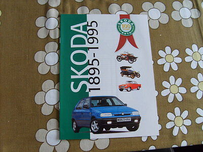 Skoda 100 Years 1895 - 1995 Advertising Celebration Brochure
